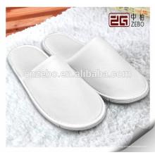 5 estrellas de alta calidad Blanco Destacados Desechables Hotel Custom Slippers
