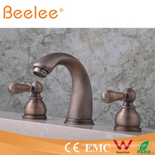 Free Shipping+3 Holes Bathtub Faucet Mixer Tap Antique Brass