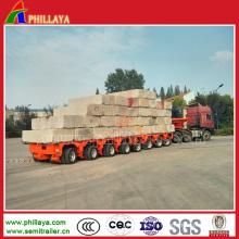 Semi-remorque de camion modulaire hydraulique de plate-forme de Goldhofer de pont bas