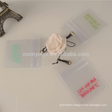 transparent business cheap price pvc id card holder