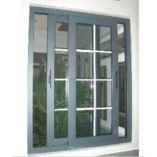 Fenêtre coulissante en aluminium thermique de verre de double oscillation