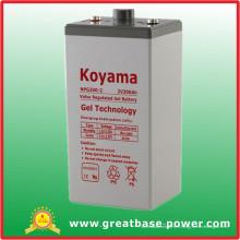 300ah 2V batterie stationnaire de gel pour la télécommunication