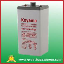 Bateria estacionária do gel de 300ah 2V para a telecomunicação