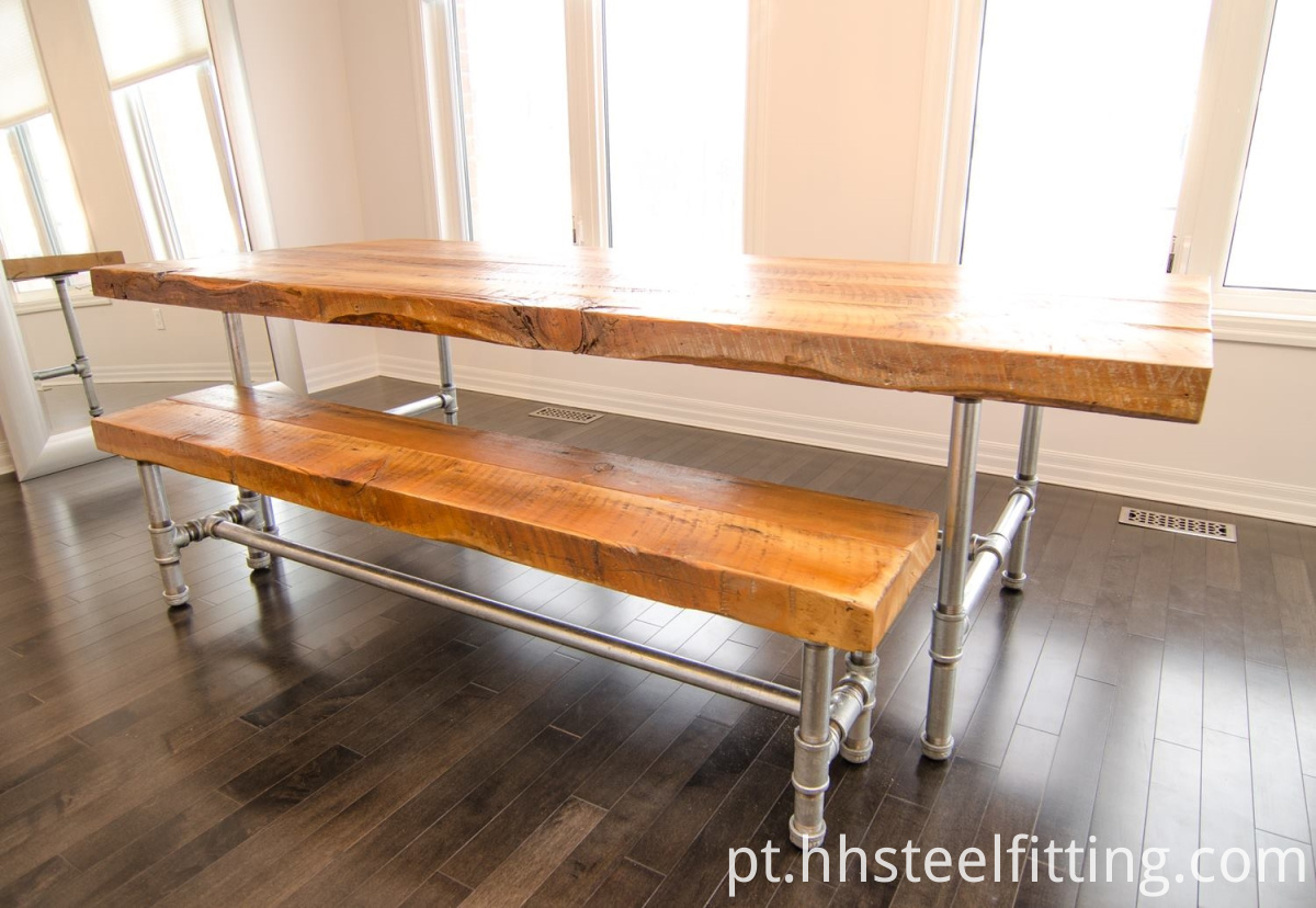 reclaimed+galvanized+pipe+harvest+table