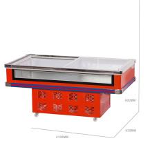Двойной компрессор охлажденный и замороженный переднего очистить Морепродукты морозильник