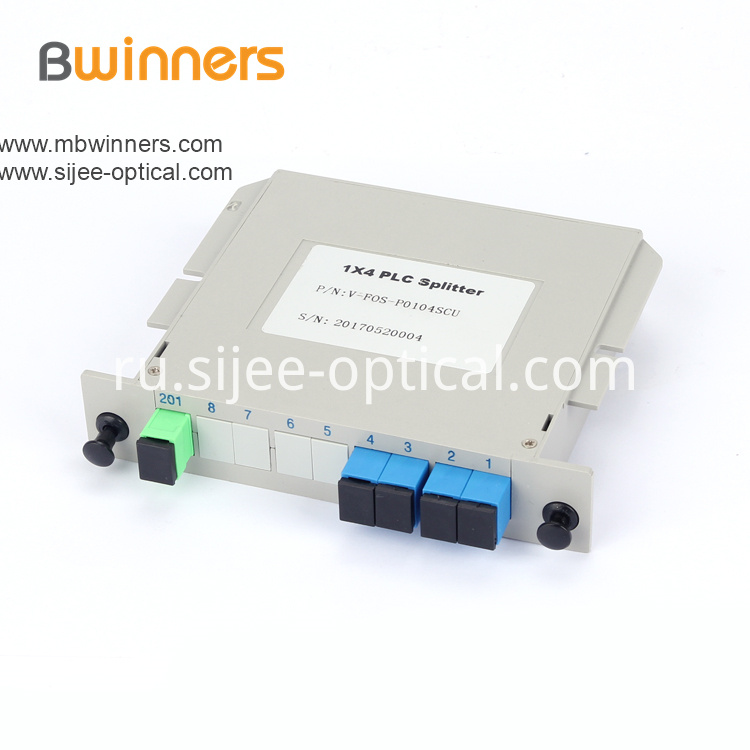 Insertion Module 1x4 Sc Apc Plc Splitter