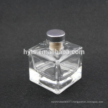 100ML 150ML sqaure shape clear aroma oill glass bottle with cork