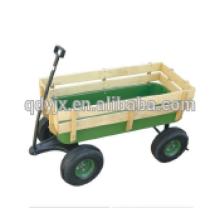 4 wheel garden cart wooden cart TC2017