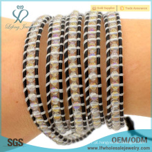 Alta qualidade boêmio bridal jóias boho jóias elegante envoltório pulseiras tutorial