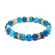 Bracelet en perles de pierre bleues Lapis Lazuli Energy Stone
