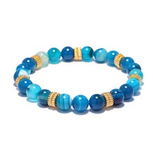 Blue Stone Lapis Lazuli Energy Stone Bead Bracelet