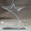 farbiger Sternform K9 Kristalltrophäenpreis