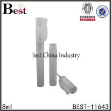 refillable sprayer bottle for perfume, pen shape pet plastic perfume bottle