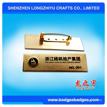 Aluminum Stamping Degital Name Plate Badge From China