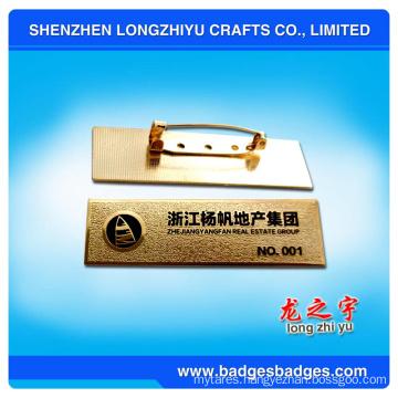 Aluminum Stamping Degital Name Plate Badge From China
