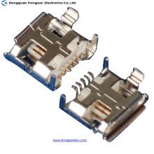 Женский 5-контактный разъем типа B для пайки Micro USB