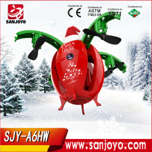 X-mas Flying Egg drone SJY-A6HW Selfie Drone With Wifi FPV 0.3/2.0MP Camera Mini Drone With Controller Toys for kids