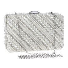 Pearls Women's Evening Dinner Clutch Bag Bride Bag For Wedding Evening Party Bridal HandBags B00106 ladies party wear bags