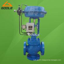 Vanne de régulation de débit pneumatique à 3 voies de mélange (ZMAQ)