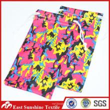 Kundenspezifische Druck Sunglass Beutel, Microfiber Eyewear Drawstring Tasche mit voller Farben Druck