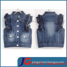 Factory Wholesale Girls' Denim Waistcoat (JT5005)