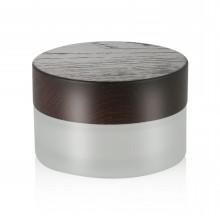 15/20/30 ml frasco de vidrio esmerilado tarro cosmético cuidado personal cosmético con agua tapa de impresión tarro de cristal tarro venta caliente