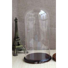 Handblown vidro limpo Home Decor Glass Bell Dome dom