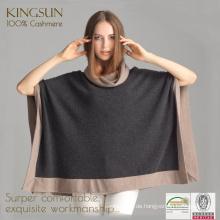 Wolle und Kaschmir, Kaschmir Pelz Cape, Großhandel Monokel Fleece Pullover