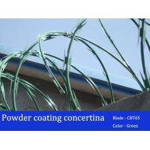 Cbt65 Peinture en poudre Couleurs Concertina Razor Barbed Wire