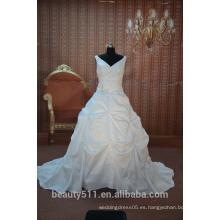 IN STOCK Hombro-correas V-cuello vestido de novia vestido nupcial SW01
