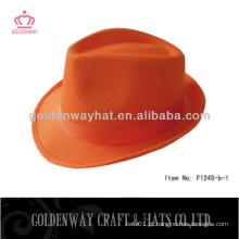 Boné barato de chapéu de fedora de poliéster presente promocional PP lembrança de chapéu com logotipo personalizado