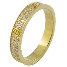El micr3ofono pavimenta la joyería de encargo sólida del oro de la estampilla 18k
