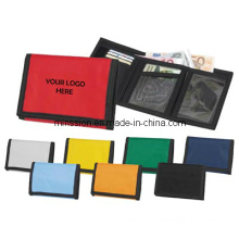 Nylon/ Polyester Velcro Closed Wallet/Purse (MS9022)