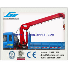 small telescopic boom truck mounted crane
