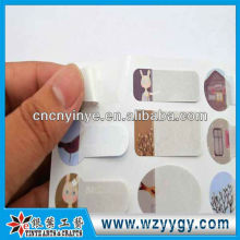 Fashion blank pvc stickers for kids, oem writing stickers