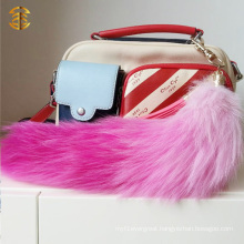 New Style Colorful Fox Fur Tail Key Rings Pendant Bag Charm
