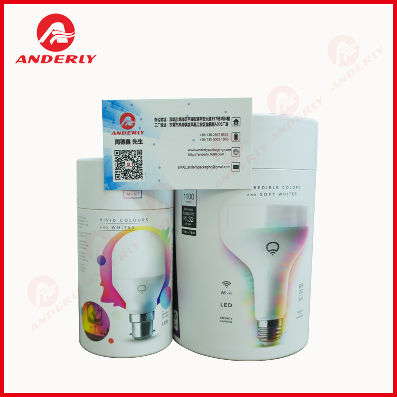 Light Bulb Paper Packaging Tube Dengan EVA
