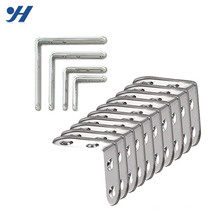 Support de coin en forme de L en métal galvanisé à revêtement de zinc avec trous