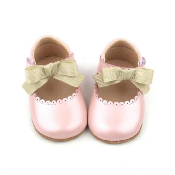 Pink Bowknot Christmas Girl Baby Dress Shoes