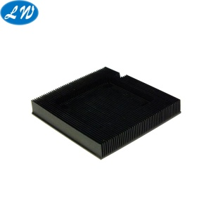 CNC turn-milling machining black anodized heatsink part