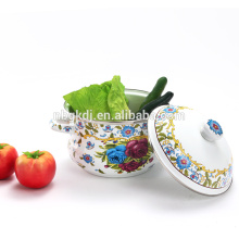 personalizada china impresa cazuela olla de esmalte al por mayor
