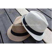 2014 Moda Chapéu de palha de trigo natural Chapéu dos homens de venda quente / boné