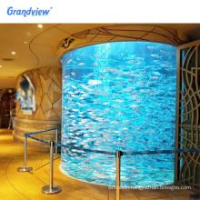100% New PMMA aquarium tank price large cylinder acrylic aquarium
