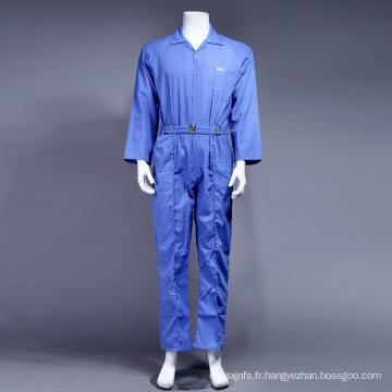 100 % polyester de haute qualité à bas prix Dubaï sécurité Coverall Workwear (bleu)