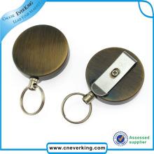 Carretel diferente da tração da forma do metal com Keyring