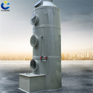 Flame retardant waste gas treatment