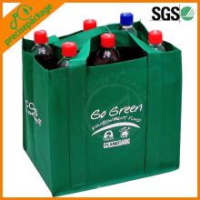 Saco de empacotamento não tecido amigável da garrafa de vinho de 6 blocos de Eco com logotipo personalizado
