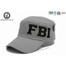 Tampão feito sob encomenda do chapéu militar do exército da forma com bordado e impressão
