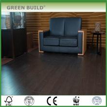 Couleur noire grain de chêne avec plancher en bambou massif brossé blanc de 14 mm