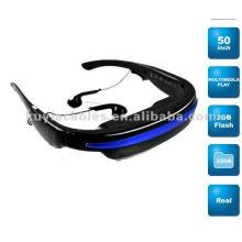 "Brand New 52"" Widescreen Multimedia Player Portable Video Glasses Virtual Theatre 4GB"